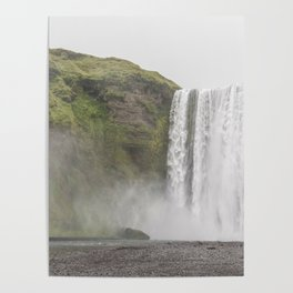 Foggy Waterfall (Color) Poster