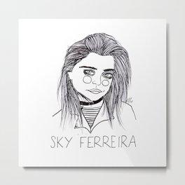 Sky Ferreira  Metal Print