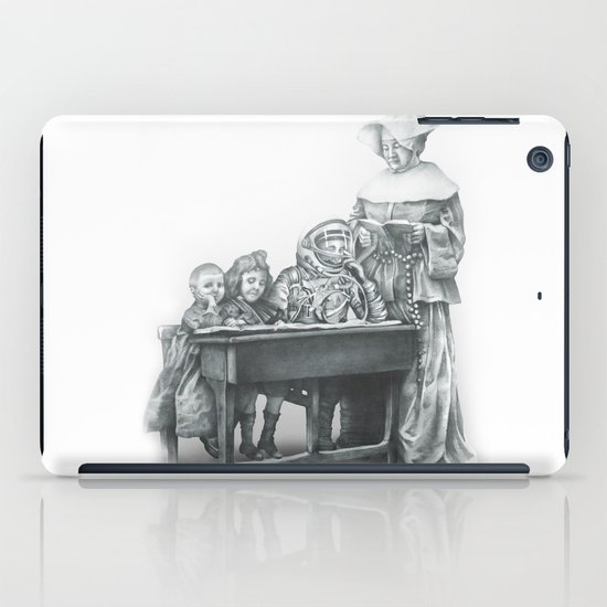 In which a cosmonaut is rendered quizzical iPad Case