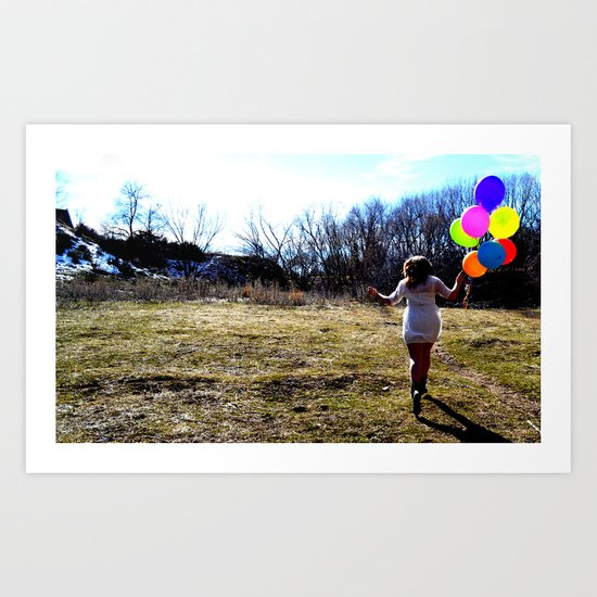 Fly Away With Me. Art Print