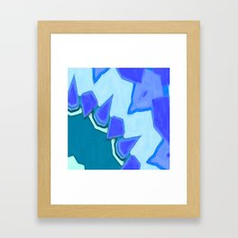 Jagged Tooth Teal Framed Art Print