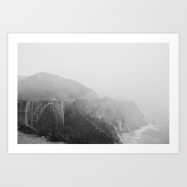 Bixby Bridge in the Fog Art Print