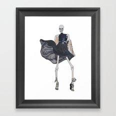 skeleton in leather & fur Framed Art Print