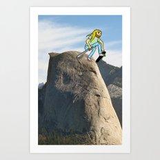 Half Dome Drop In Art Print