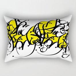 persian typo Rectangular Pillow