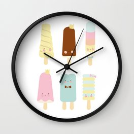 Icecreams all over Wall Clock