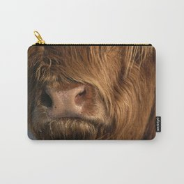NOSEY HIGHLAND COW Carry-All Pouch