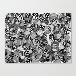 black and white circles I Canvas Print