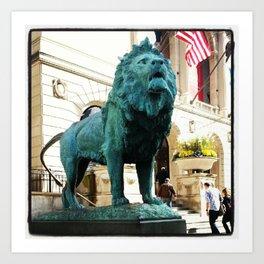 Green Lion Art Print