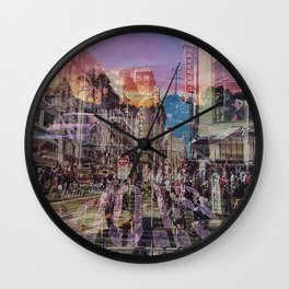 San Francisco city illusion Wall Clock