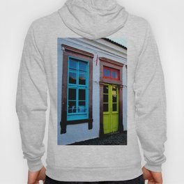 colorful door in ayvalık cunda Hoody