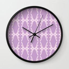 Feminine Script Letter K Pattern Wall Clock
