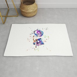 Theater masks Rug