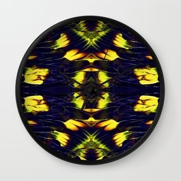 Abstract art with broad strokes with thick paint layer Wall Clock