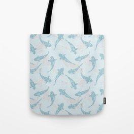 koi shoal blue Tote Bag