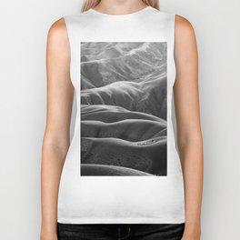 Endless Valleys (Black and White) Biker Tank