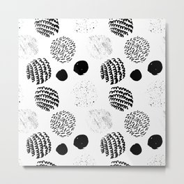 Abstract Hand Drawn Patterns No.5 Metal Print