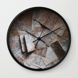 Maps On Maps Wall Clock