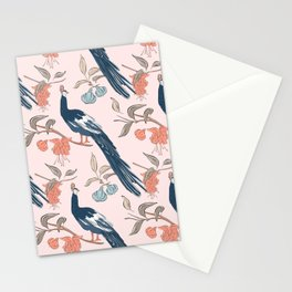 Peacock in flowers Stationery Cards
