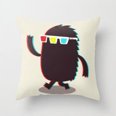 MONSTER 3d Throw Pillow