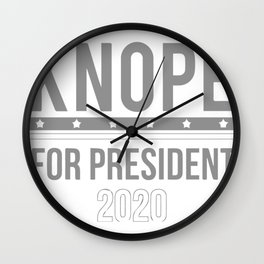 Knope For President Wall Clock