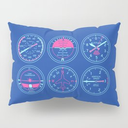 Aircraft Flight Instruments - Navy Pillow Sham