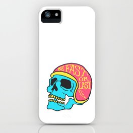 fast or last color iPhone Case