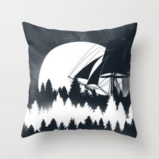 Forest Wave Throw Pillow