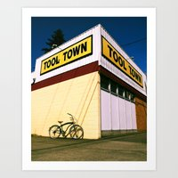 tool Art Prints featuring Tool Town by Vorona Photography
