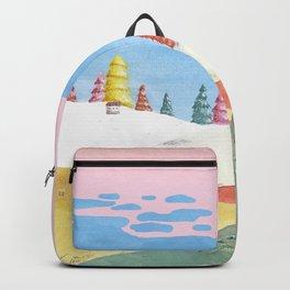Pink landscape Backpack