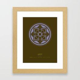 Kalachakra Mandala Framed Art Print