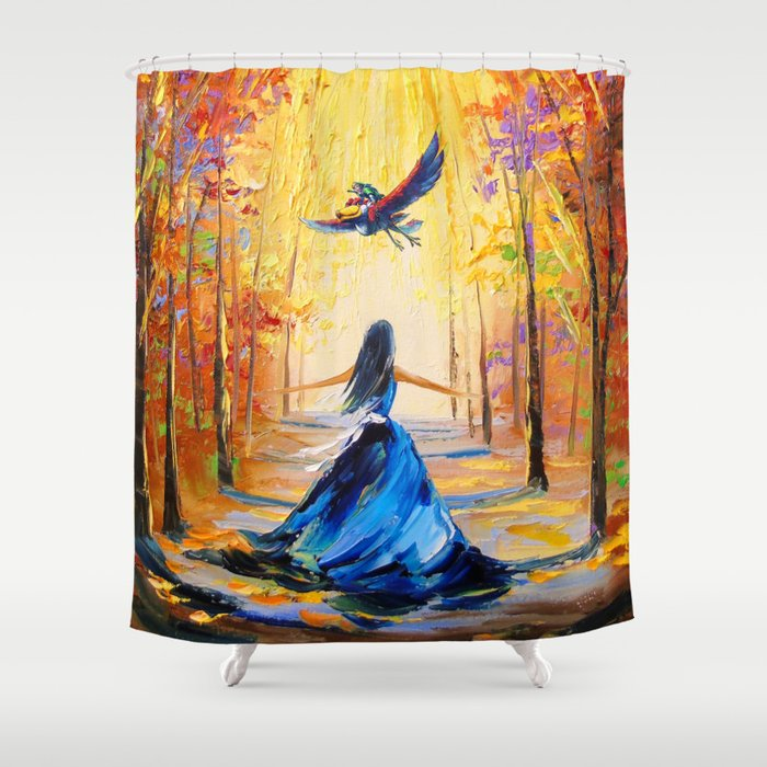 Twilight Princess And Zelda Flying Shower Curtain