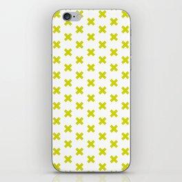 CROSS ((chartreuse)) iPhone Skin