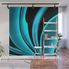 Abstract Fractal Colorways 02 Pacific Blue Wall Mural