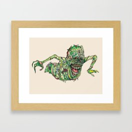 Slimer Framed Art Print