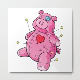 Voodoo Pig #1 Metal Print