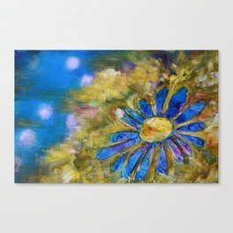 Blue Daisy Canvas Print