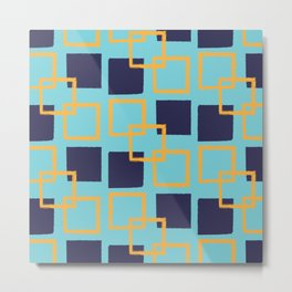 Square Shapes Seamless Pattern 018#002 Metal Print