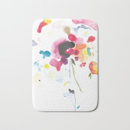 Abstract Bouquet Bath Mat
