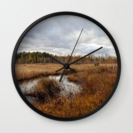 autumn marsh Wall Clock