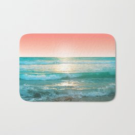 Aqua and Coral, 1 Bath Mat
