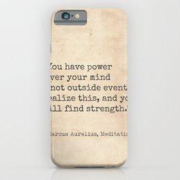 Marcus Aurelius, Meditations. iPhone Case