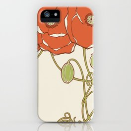 Graphic Poppies iPhone Case