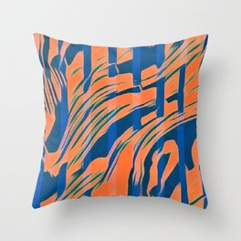 Blaze - Blue and Orange Throw Pillow