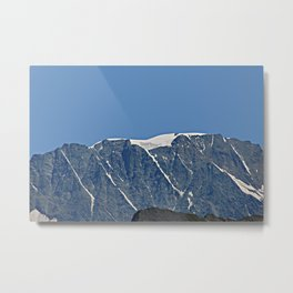 Snowy Mountain Ridge Alpine Landscape Metal Print