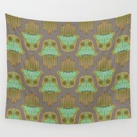 hamsa Wall Tapestries featuring Luna's Hamsa by Phantoms Siren