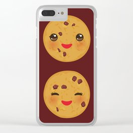 Kawaii Chocolate chip cookie Clear iPhone Case