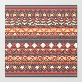 Aztec tribal pattern in stripes, vector illustration Canvas Print