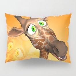 Funny cartoon giraffe Pillow Sham