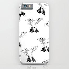 H-U-M I (pattern, b&w) iPhone Case